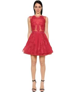 Zuhair Murad | Flared Cady Chiffon Mini Dress