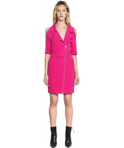 Jeremy Scott | Crepe Biker Dress