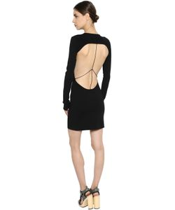 Esteban Cortazar   Open Back Ribbed Knit Mini Dress