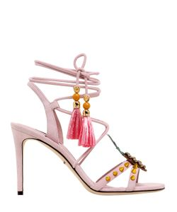 Dolce & Gabbana | 85mm Keira Pineapple Suede Sandals