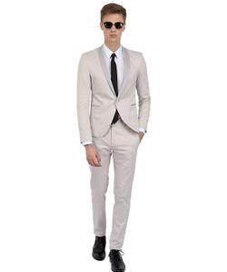 THE SUITS | Stretch Cotton Satin Tuxedo Suit