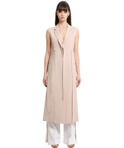 Calvin Klein Collection   Stretch Cady Long Vest