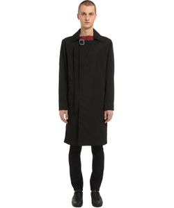 Raf Simons | Nylon Trench Coat With Strap At Collar