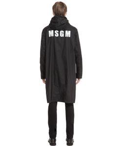MSGM | Logo Printed Paper Effect Long Jacket