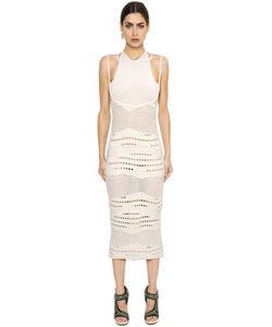 Esteban Cortazar   Cotton Knit Crochet Dress