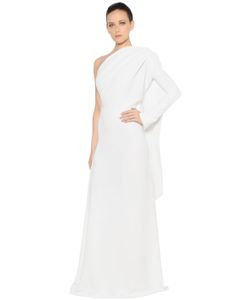Gareth Pugh   One Sleeve Draped Panel Crepe Cady Gown