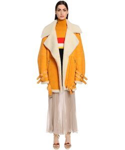 Vionnet | Oversized Suede Shearling Coat