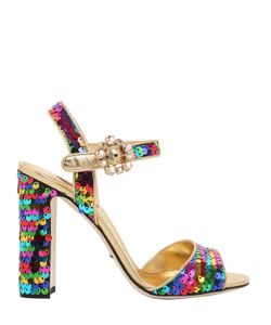 Dolce & Gabbana | 90mm Bianca Sequined Leather Sandals