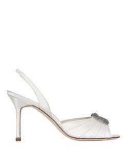 Manolo Blahnik | 90mm Cassia Satin Sandals