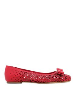 Salvatore Ferragamo | Varina Laser-Cut Leather Ballerina Flats
