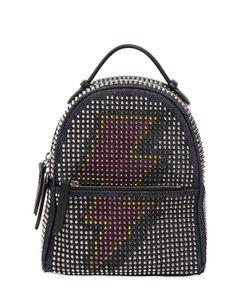 Les Petits Joueurs | Micro Mic Flash Denim Leather Backpack