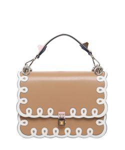 Fendi | Medium Kan I Embroidered Leather Bag