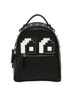 Les Petits Joueurs | Micro Mic Eyes Leather Backpack