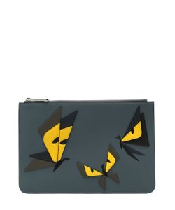 Fendi | Monster Butterfly Leather Pouch