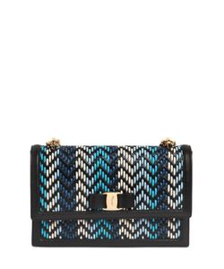 Salvatore Ferragamo | Ginny Woven Leather Shoulder Bag