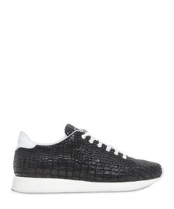 Kris Van Assche | Croc-Embossed Leather Sneakers