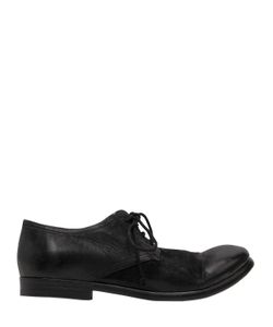 The Last Conspiracy | Washed Leather Derby Lace-Up Shoes