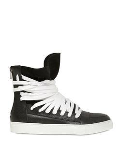 Kris Van Assche | Grained Leather High Top Sneakers