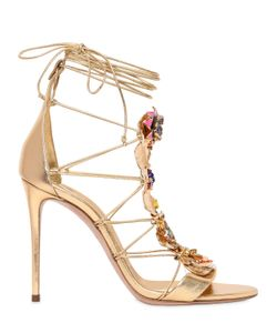 CASADEI BY ILENIA CORTI | 100mm Metal Plaque Leather Sandals