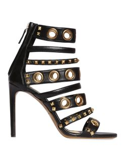 Alexandre Vauthier | 100mm Stud Multi-Strap Leather Sandals