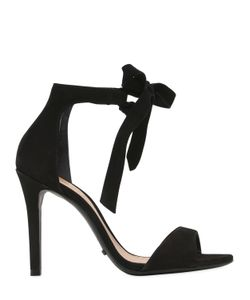 Schutz | 100mm Clarita Bow Suede Sandals