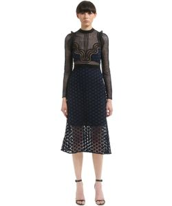 Self-Portrait | Paneled Star Guipure Lace Midi Dress