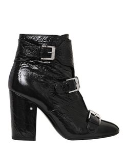 Laurence Dacade | 95mm Patou Wrinkled Patent Leather Boots
