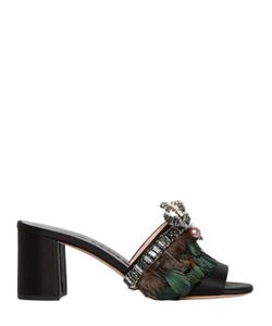 Rochas | 60mm Embellished Satin Sandals