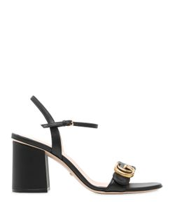 Gucci | 75mm Marmont Gg Leather Sandals