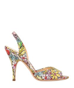 Moschino | 100mm Printed Leather Sandals