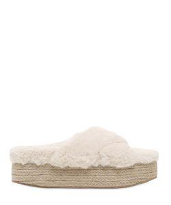 Jeffrey Campbell | 60mm Faux Fur Platform Slide Sandals
