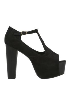 Jeffrey Campbell | 120mm Foxy Suede T-Strap Sandals