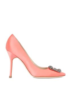 Manolo Blahnik | 105mm Hangisi Silk Satin Pumps