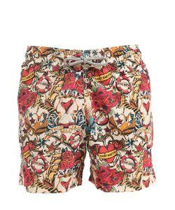 MC2 SAINT BARTH | Gustavia Azala Tattoo Swim Shorts