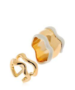 Eshvi   Lava Glitter Set Of 2 Rings