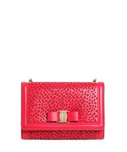 Salvatore Ferragamo   Mini Perforated Leather Shoulder Bag