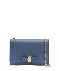 Salvatore Ferragamo   Saffiano Leather Shoulder Bag