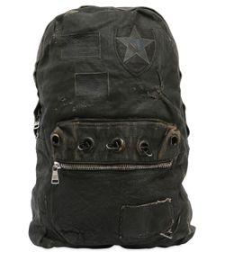 Giorgio Brato | Waxed Canvas Leather Backpack