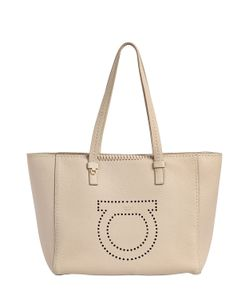 Salvatore Ferragamo | Medium Marta Gancio Leather Tote Bag