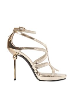 ROGER VIVIER | 110mm Ondulation Mirror Leather Sandals