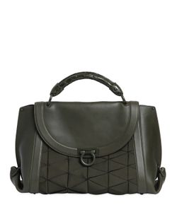 Salvatore Ferragamo | Large Sofia Grosgrain Leather Bag