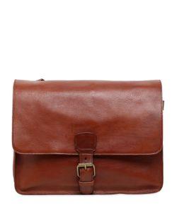 Officine Creative | Brushed Leather Messenger Bag