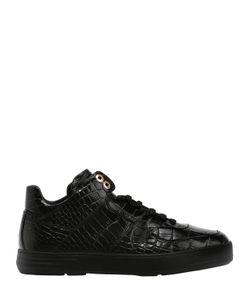 Salvatore Ferragamo | Embossed Leather Sneakers