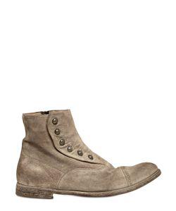 Officine Creative | Vintage Suede Ghetta Cropped Boots