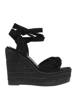 KENDALL+KYLIE | 120mm Ce Suede Lace Up Wedges