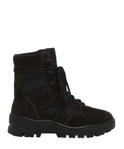 Yeezy | Suede Techno Canvas Lace Up Boots