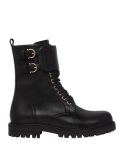 Salvatore Ferragamo | 30mm Crotone Leather Combat Boots