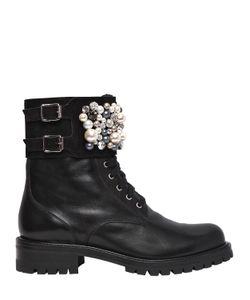 Rene Caovilla | 30mm Swarovski Leather Boots
