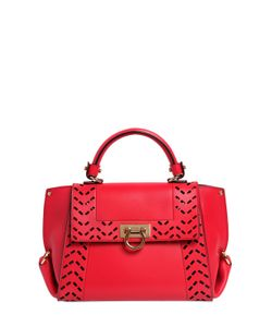 Salvatore Ferragamo | Small Sofia Perforated Leather Bag