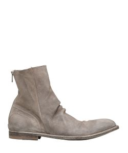Officine Creative | Washed Deerskin Leather Cropped Boots